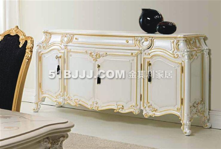 法式宫廷家具 法式餐厅套装 法式餐边柜